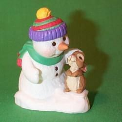1998 Snow Buddies #1 - Bunny - NB Hallmark Ornament