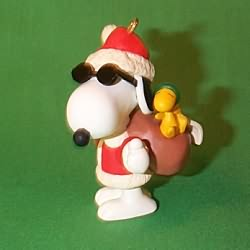 1998 Spotlight On Snoopy #1 - Joe Cool Hallmark Ornament