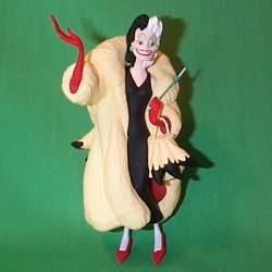1998 Villians #1 - Cruella Deville Hallmark Ornament