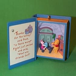 1998 Winnie The Pooh - Book #1 - A Visit From Piglet Hallmark Ornament