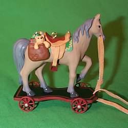 1999 A Pony For Christmas #2 Hallmark Ornament