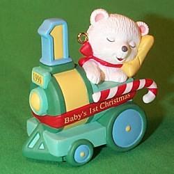 1999 Baby's 1st Christmas - Bear Hallmark Ornament