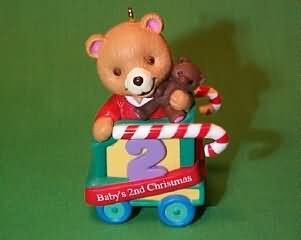 1999 Baby's 2nd Christmas - Bear Hallmark Ornament