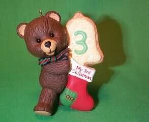 1999 Child's 3rd Christmas - Bear Hallmark Ornament