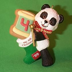 1999 Child's 4th Christmas - Bear Hallmark Ornament