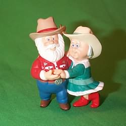 1999 Clauses On Vacation #3f Hallmark Ornament