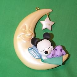 1999 Disney - Baby Mickey's Sweet Dreams Hallmark Ornament
