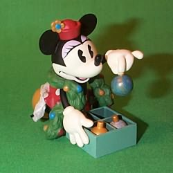 1999 Disney - Minnie Trims The Tree Hallmark Ornament