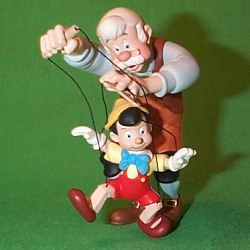 1999 Disney - Pinocchio And Geppetto Hallmark Ornament