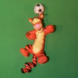 1999 Disney - Tigger Plays Soccer Hallmark Ornament