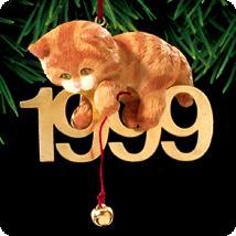 1999 Fabulous Decade #10 - Cat Hallmark Ornament