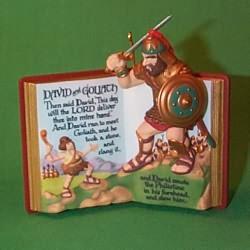 1999 Favorite Bible Stories #1 -david And Goliath Hallmark Ornament