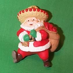 1999 Feliz Navidad - Santa Hallmark Ornament