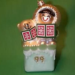 1999 Frosty Friends - Blown Glass Hallmark Ornament