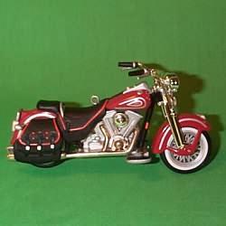 1999 Harley Davidson #1 - Heritage Springer - MNT Hallmark Ornament