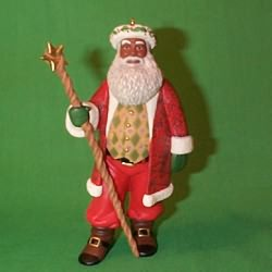 1999 Joyful Santa #1 Hallmark Ornament