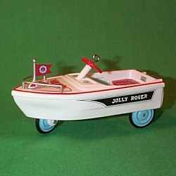 1999 Kiddie Car Classic #6 - Jolly Roger Boat Hallmark Ornament