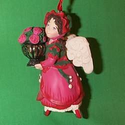 1999 Language Of Flowers #4f - Rose Angel Hallmark Ornament
