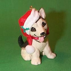 1999 Puppy Love #9 - Shepherd Hallmark Ornament