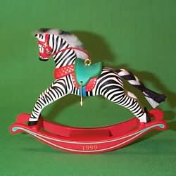 1999 Rocking Horse - Zebra Fantasy Hallmark Ornament