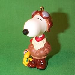 1999 Spotlight On Snoopy #2 - Famous Flying Ace Hallmark Ornament