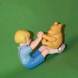 1999 Winnie The Pooh #1 - Playing With Pooh Hallmark Ornament