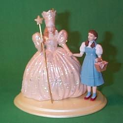 1999 Wizard Of Oz - Dorothy And Glinda - MNT Hallmark Ornament