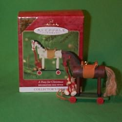 2000 A Pony For Christmas #3 - Colorway - MIB Hallmark Ornament