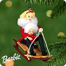 2000 Barbie And Kelly - Winter Fun Hallmark Ornament