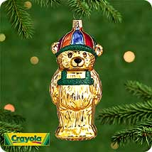 2000 Bg - Crayola Backpack Bear Hallmark Ornament