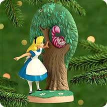 2000 Disney - Alice Meets Cheshire Cat Hallmark Ornament