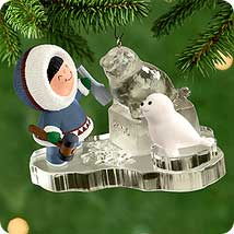 2000 Frosty Friends #21 - Ice Sculpture - NB Hallmark Ornament