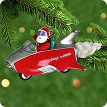 2000 Here Comes Santa #22 - Rocket Hallmark Ornament
