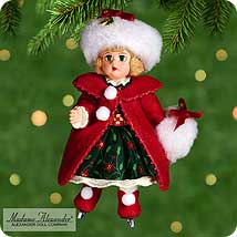 2000 Madame Alexander #5 - Christmas Holly Hallmark Ornament