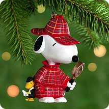 2000 Spotlight On Snoopy #3 - The Detective Hallmark Ornament