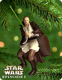 2000 Star Wars - Qui-gon Jinn Hallmark Ornament