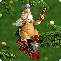 2000 Toymaker Santa #1 Hallmark Ornament