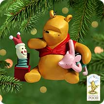 2000 Winnie The Pooh - Piglet's Jack In The Box Hallmark Ornament