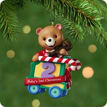 2001 Baby's 2nd Christmas - Bear Hallmark Ornament