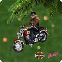 2001 Barbie - Harley - MNT Hallmark Ornament
