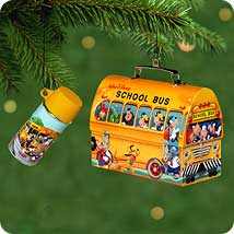 2001 Disney - School Bus Lunchbox Hallmark Ornament