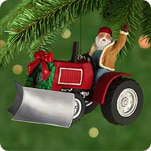2001 Here Comes Santa #23 - Snowplow Hallmark Ornament