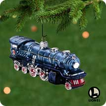 2001 Lionel - Blue Comet - Blown Glass - SDB Hallmark Ornament