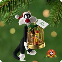 2001 Lt Sylvester's Bang Up Gift Hallmark Ornament