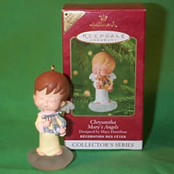 2001 Mary's Angels #14 - Chrysantha - Colorway - MIB Hallmark Ornament