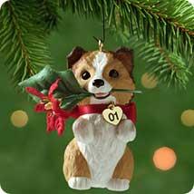2001 Puppy Love #11 - Sheltie - SDB Hallmark Ornament