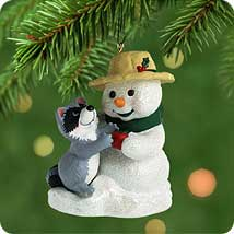 2001 Snow Buddies #4 - Raccoon Hallmark Ornament