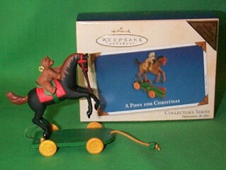 2002 A Pony For Christmas #5 - Colorway - MIB Hallmark Ornament