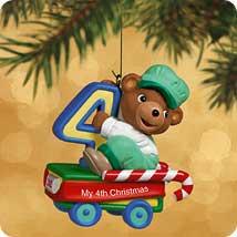 2002 Child's 4th Christmas - Bear Hallmark Ornament