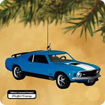 2002 Classic Cars #12 - Mach 1 Mustang - MNT Hallmark Ornament
